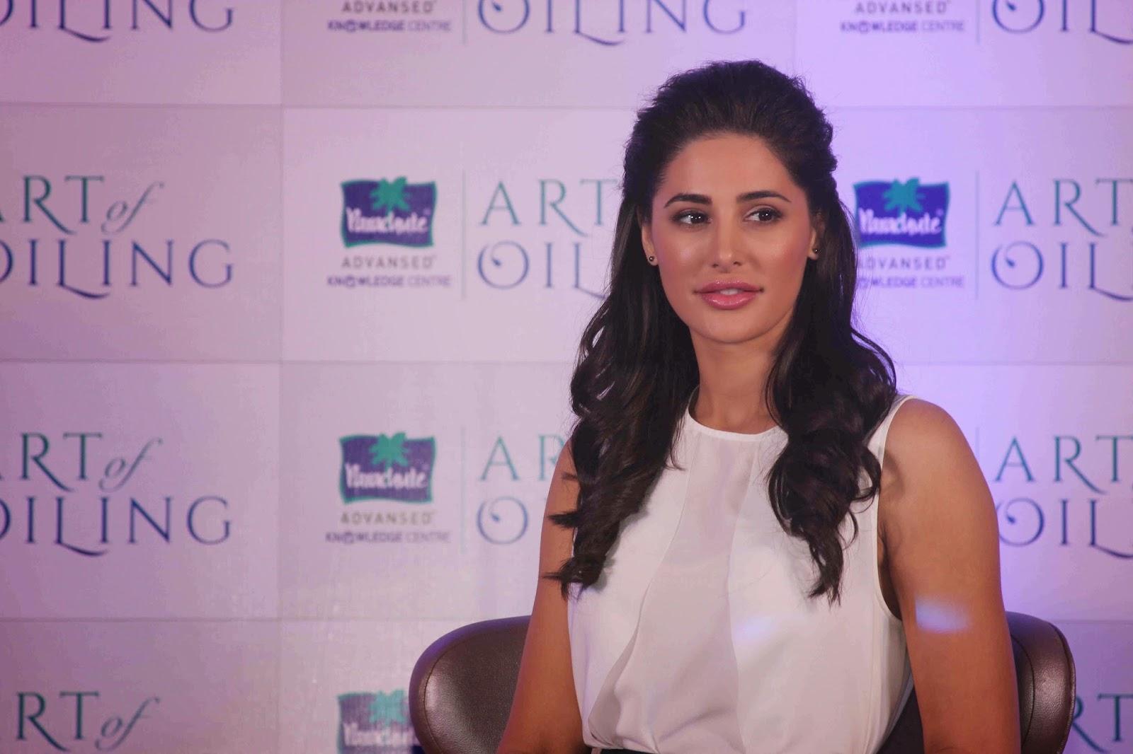 Nargis Fakhri Launch Parachute Signature Line Art Of Oiling
