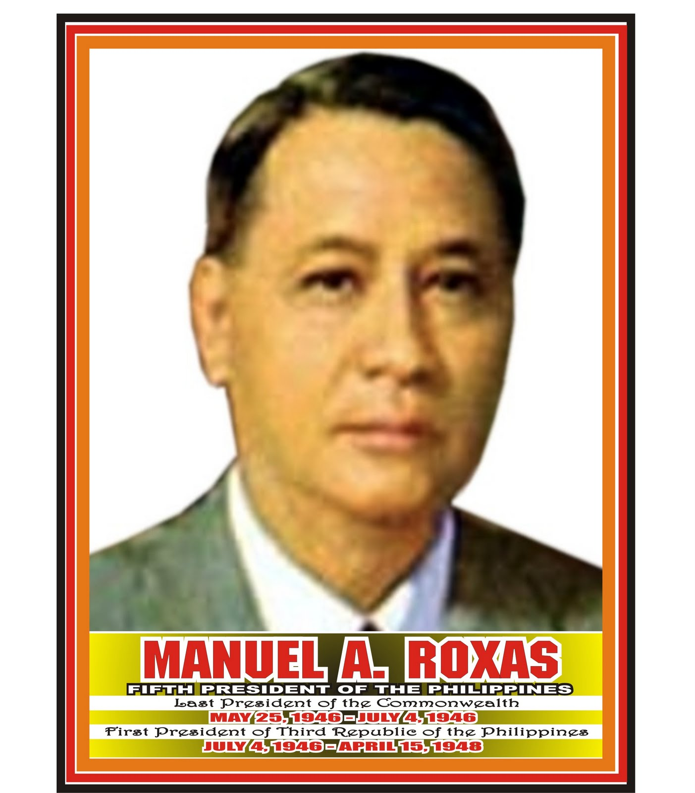 programs of manuel roxas Manuel roxas was elected in 1946 as the first president of the republic of the philippines and is credited with bringing the nation out of post-war economic and social destitution roxas established himself as a prominent political leader, instituting several key political and economic policies while in office.
