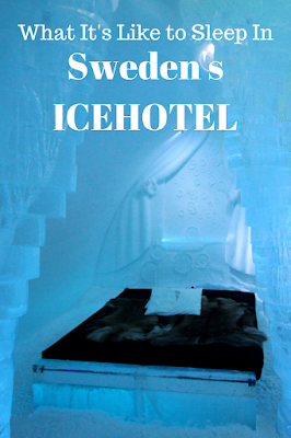 Travel the World: What it's like to stay in Sweden's ICEHOTEL including sleeping in a cold room.