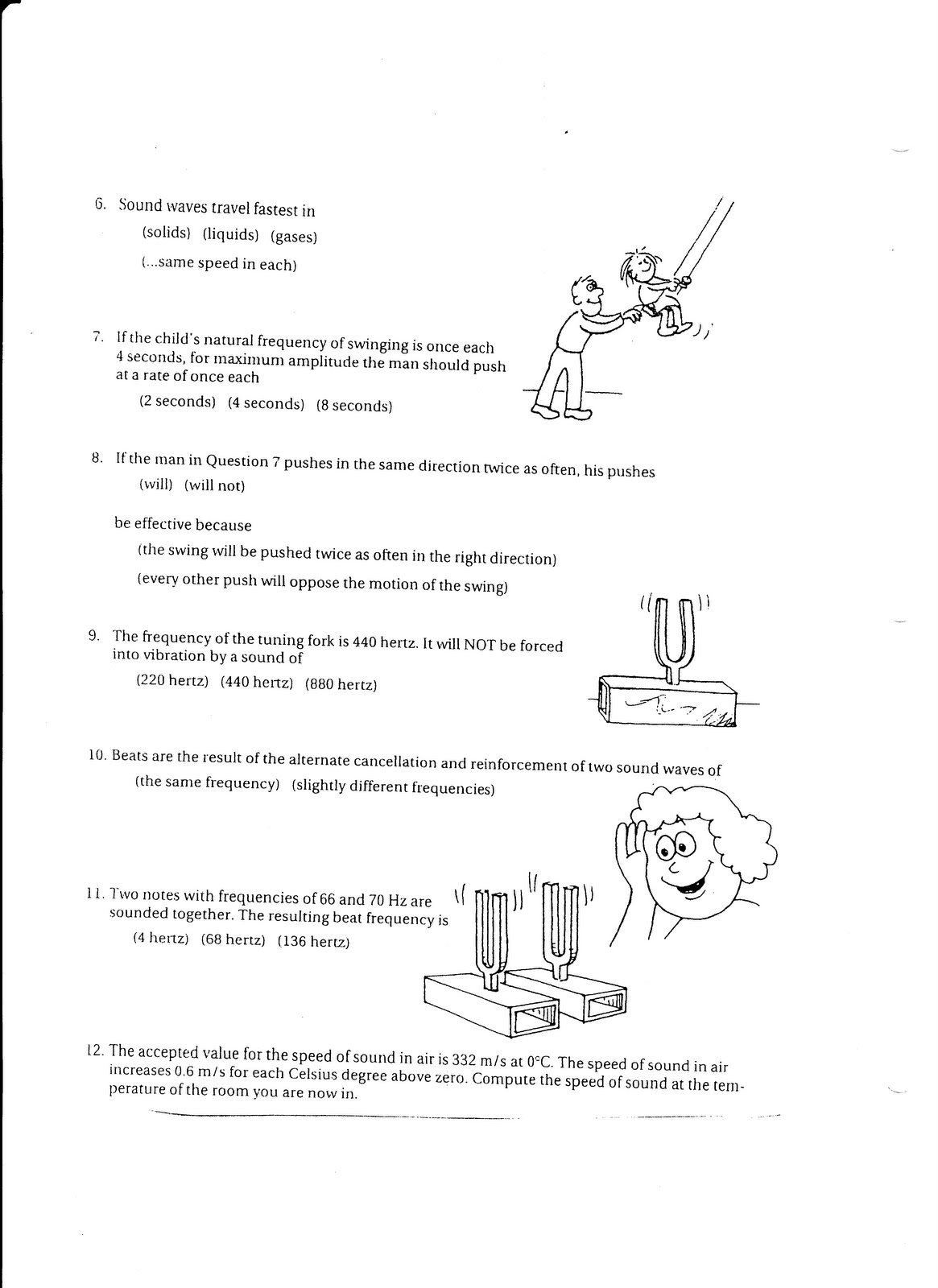 physics due thur feb 17 sound worksheet. Black Bedroom Furniture Sets. Home Design Ideas