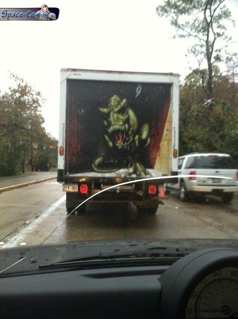 funny things T-Rex truck