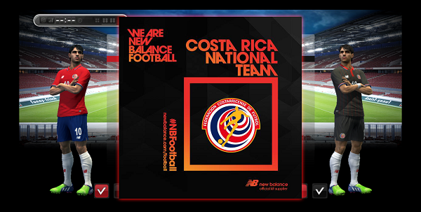 Update PES 2013 Costa Rica New Balance Kits 2016
