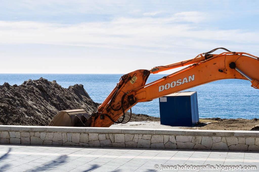 Máquinas en la playa