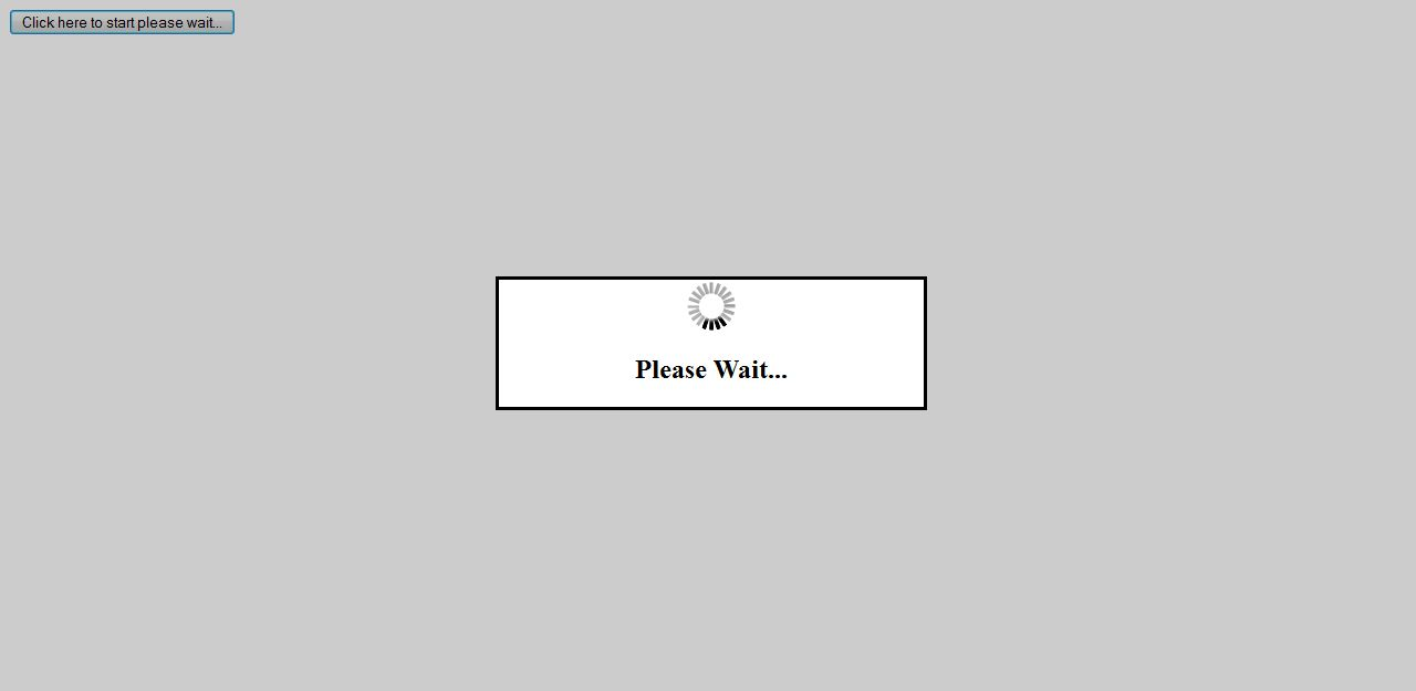 Jquery please wait overlay div source world - Jquery toggle div ...