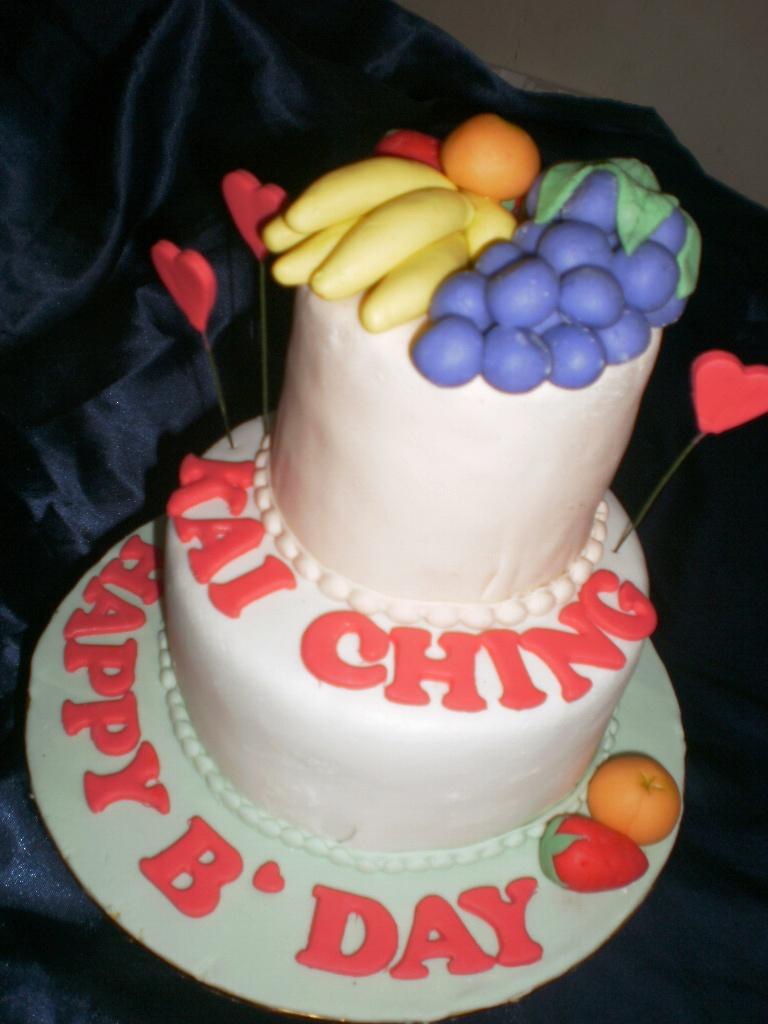 Eunice Home Bake Klang Happy Birthday To Kai Ching Fruits Themed