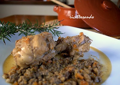 Coniglio al civet ricetta tradizionale per carni e selvaggina utilizzandone il fegato