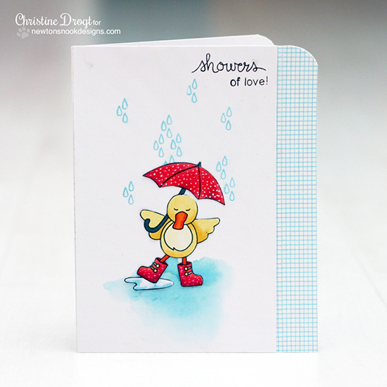 Duck card by Christine Drogt for Newton's Nook Designs!
