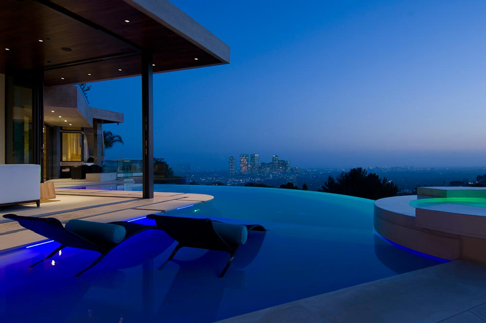 World of architecture luxury modern villa on the blue jay - Indoor swimming pools in los angeles ca ...
