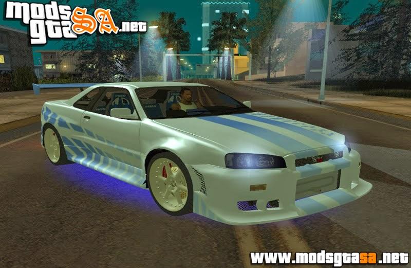 SA - Nissan Skyline GT-R 1999 de +Velozes +Furiosos