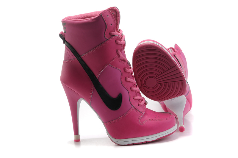 pink and black nike high heels. Shop for hot pink heels and shoes for Women, cheap discount prices on pink high heels at Buy hot pink platform pumps in sued, lace, and patient PU on several different styles like barbie pink peep toe pumps, sandals and wedges.