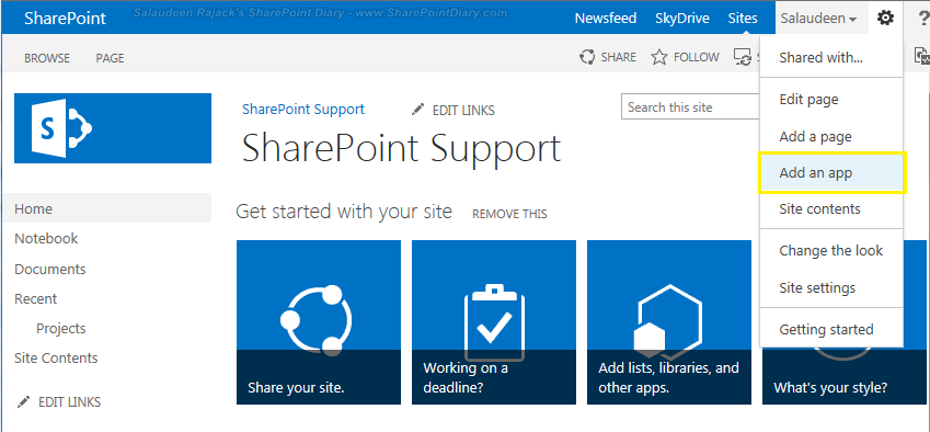 add promoted links sharepoint 2013