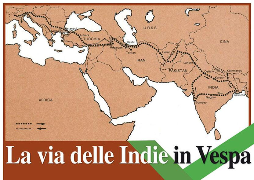 La via delle Indie in Vespa.