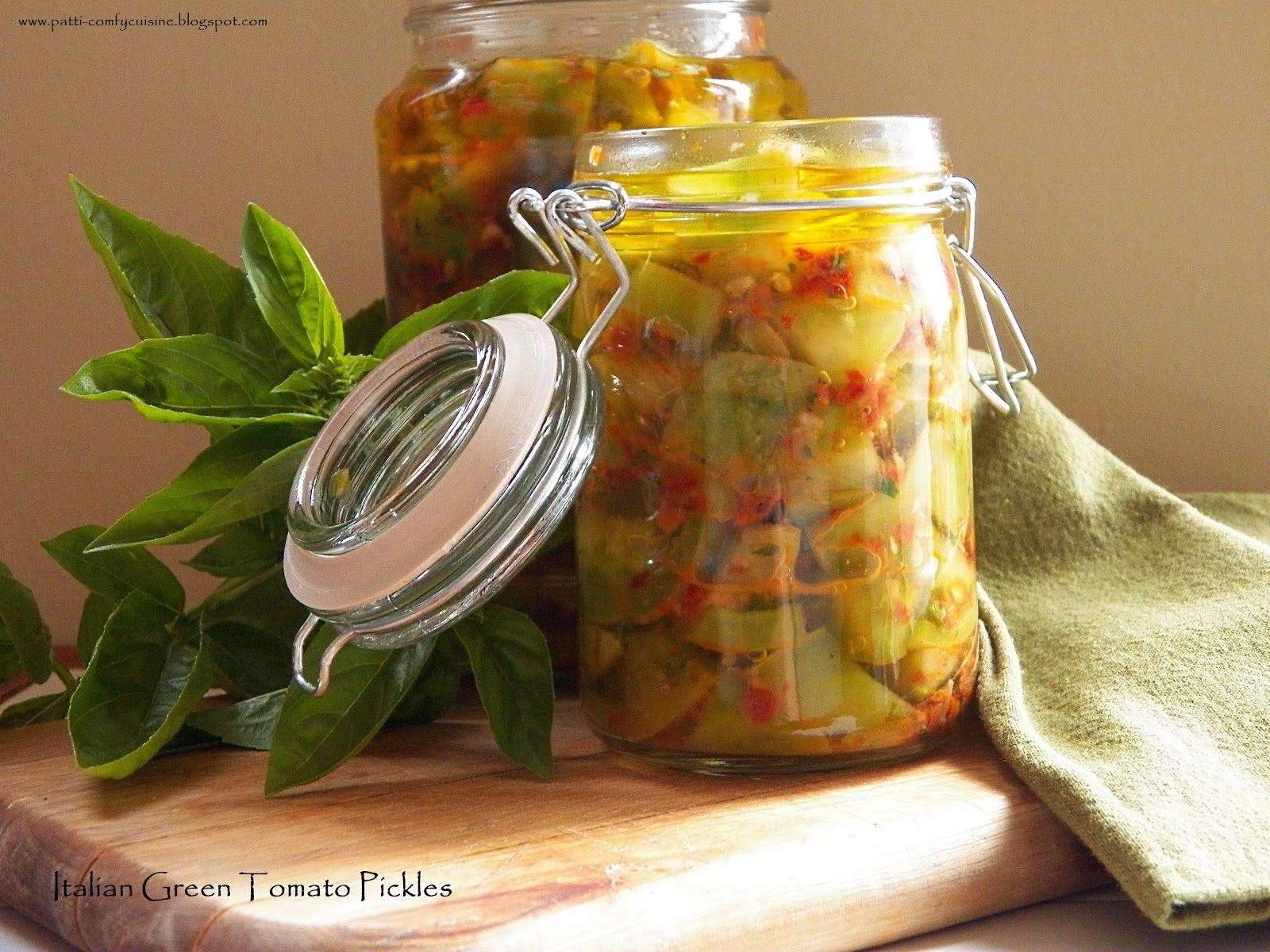 ... Green Tomato Pickles would be perfect for an antipasti platter