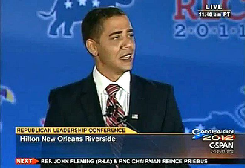 Reggie Brown 'Obama impersonation' at Republican Leadership Conference 06/18/11