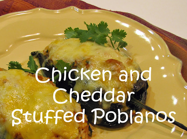 Chicken and Cheddar Stuffed Poblanos