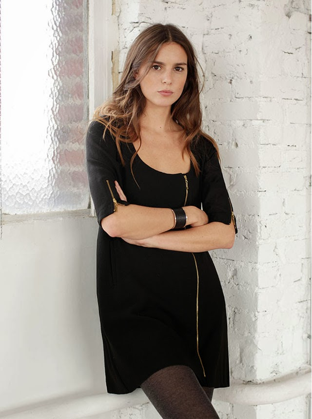 Robe zip Sezane Collection Hiver 2013