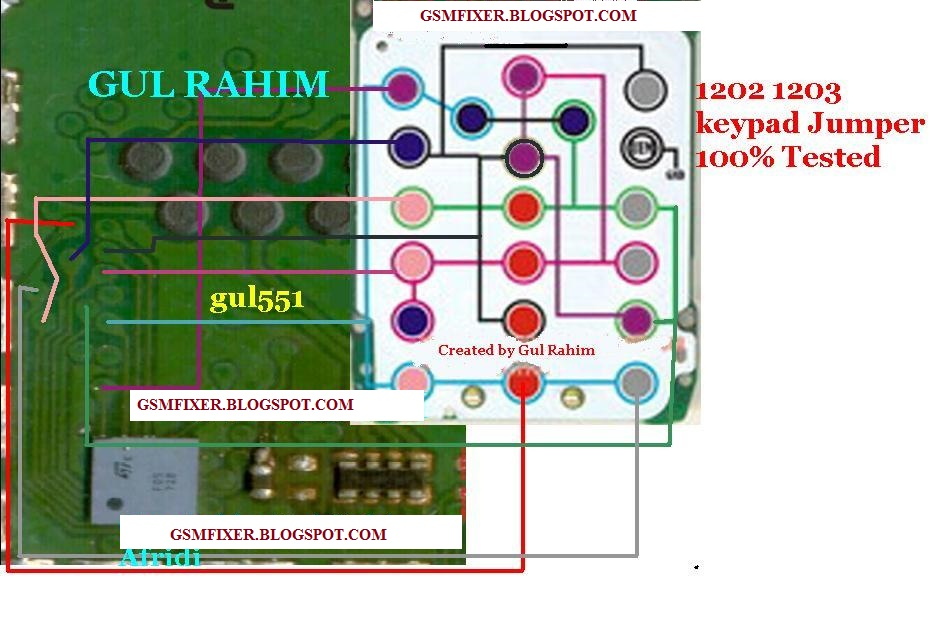 Nokia 1202 Keypad Jumper Solution Tested