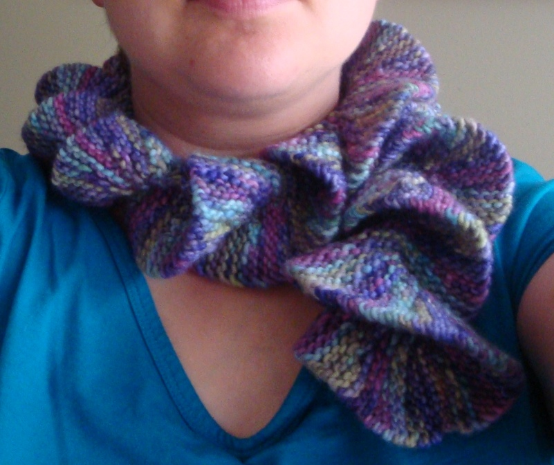 Knitting Pattern For Potato Chip Scarf : What Karen Knits: Potato Chip Scarf