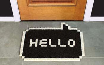 Tapetes personalizados de entrada - Hello