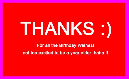 Birthday Thank You Wishes for Facebook – Thanks Birthday Greetings