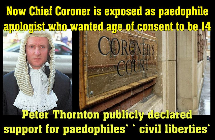 Chief Coroner is exposed as paedophile apologist
