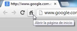 Texto de ayuda e información en google chrome