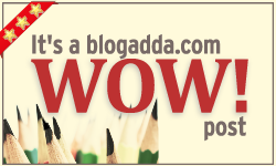 the post has been selected as blogadda wow post