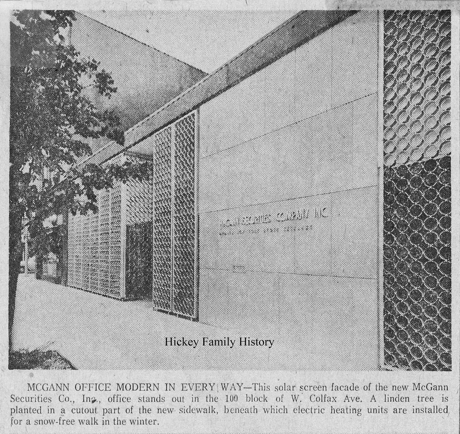 1961 thomas l hickey inc built the mcgann securities co building in south bend
