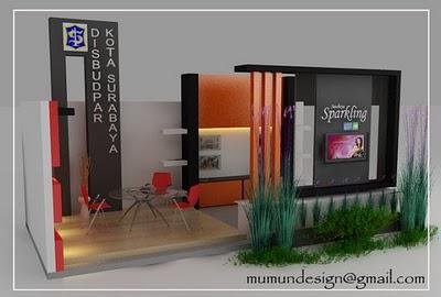 Desain interior rumah: desain stand pameran minimalis modern