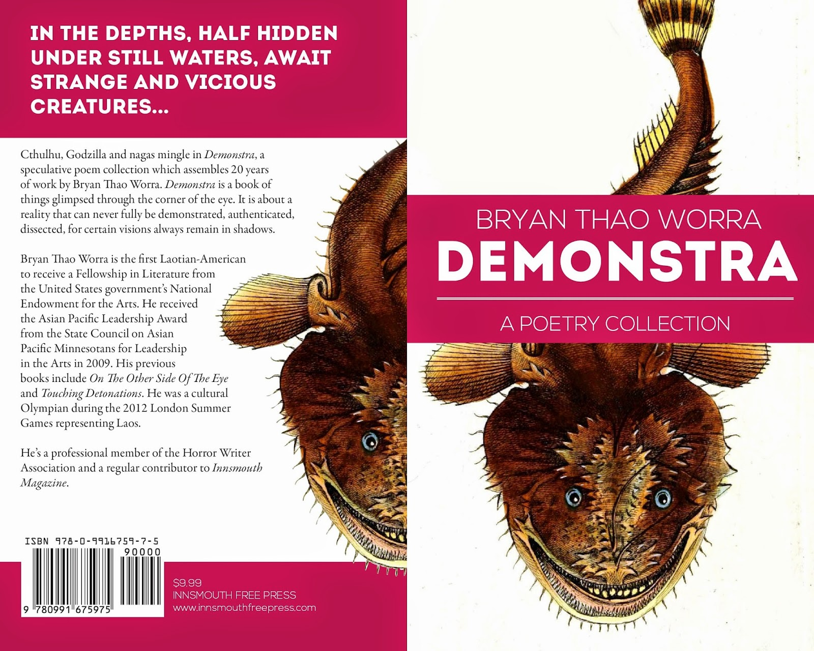 Lao poetry book - Demonstra by Bryan Thao Worra.  Illustrated by Vonguane Manivong.