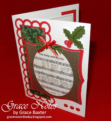 Holly and the Ivy, card front, designed by Grace Baxter