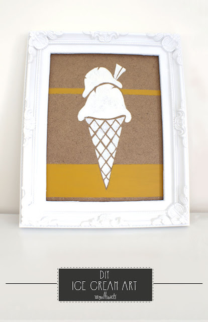 DIY Ice Cream Art - a simple and fun piece of art that costs next to nothing!