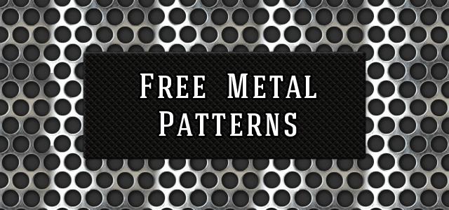 金属の質感たっぷり。フリーメタルパターン素材いろいろ。無料で使えて商用利用もOK。