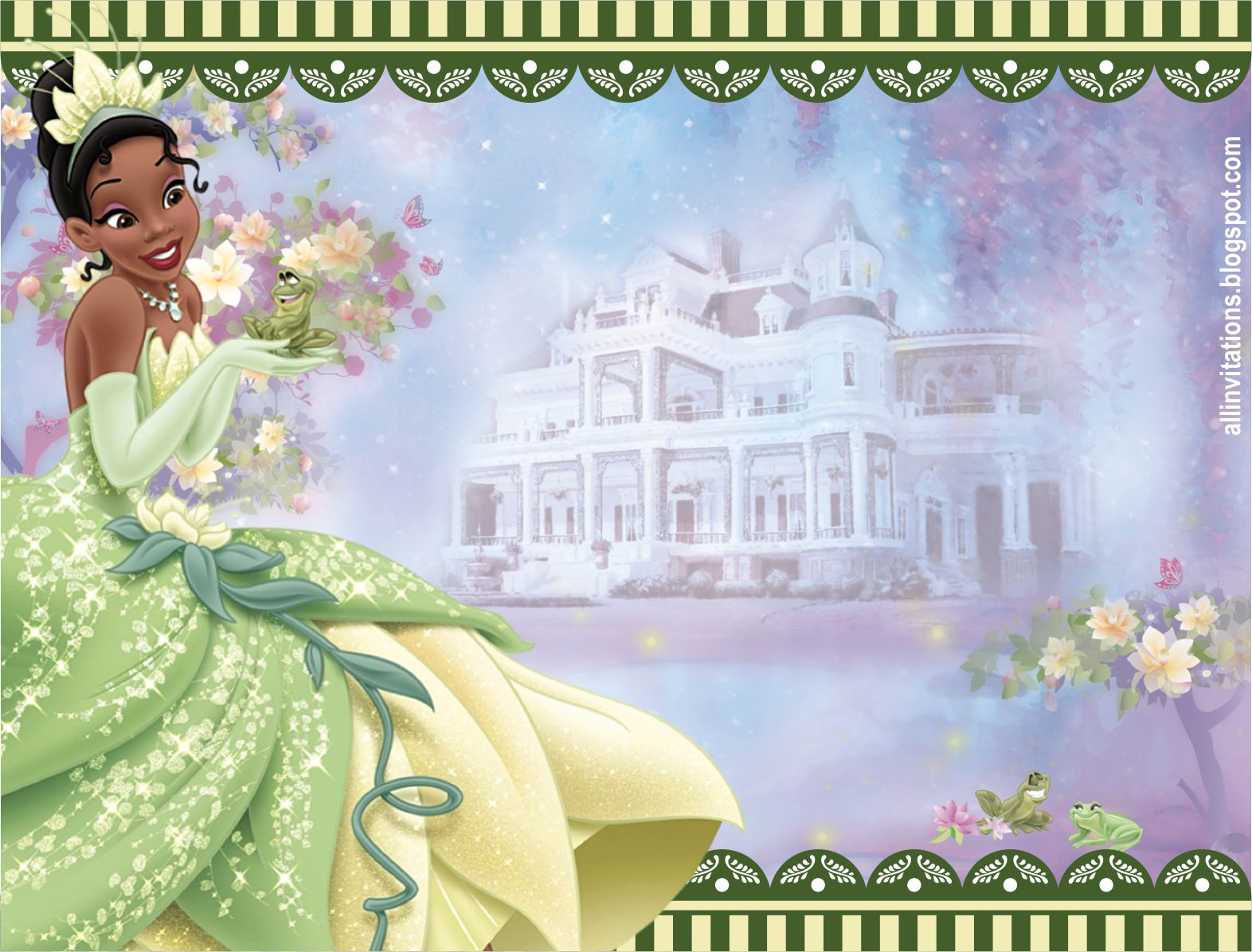 Princesa Tiana y el Sapo | All Invitations