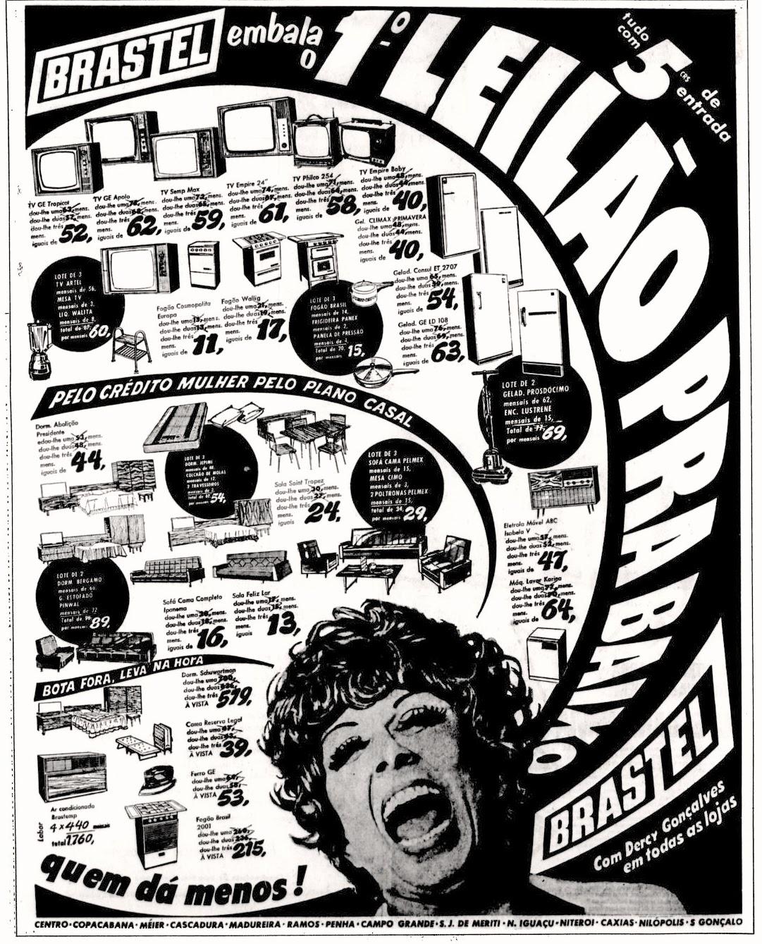 Dercy Gonçalves;  1971; os anos 70; propaganda na década de 70; Brazil in the 70s, história anos 70; Oswaldo Hernandez;