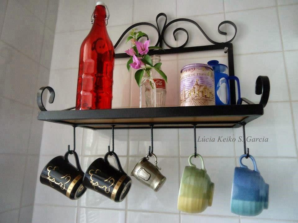 suporte com ganchos decorativo em ferro