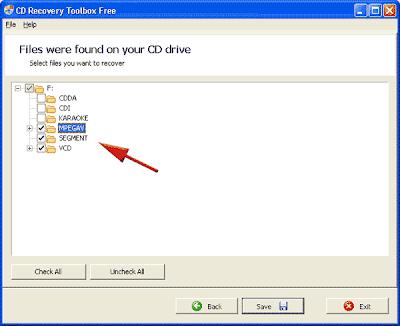 memulihkan file di cd yang rusak