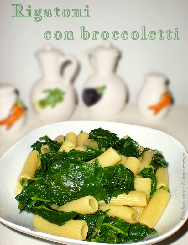 Rigatoni con broccoletti