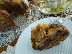 caramelized APPLE chocolate nut coffee cake