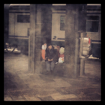 Homeless Woman - Rome Train Station