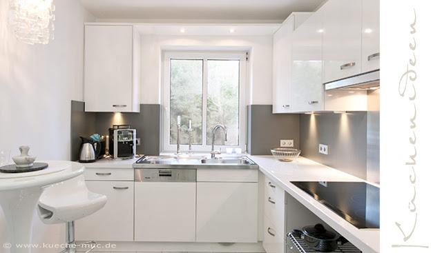 Küche ganz in weiß gestaltet