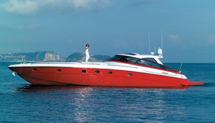 Baia Azzurra 63. Builder: Baia Yacht Loa: 63` Beam: 16.4`