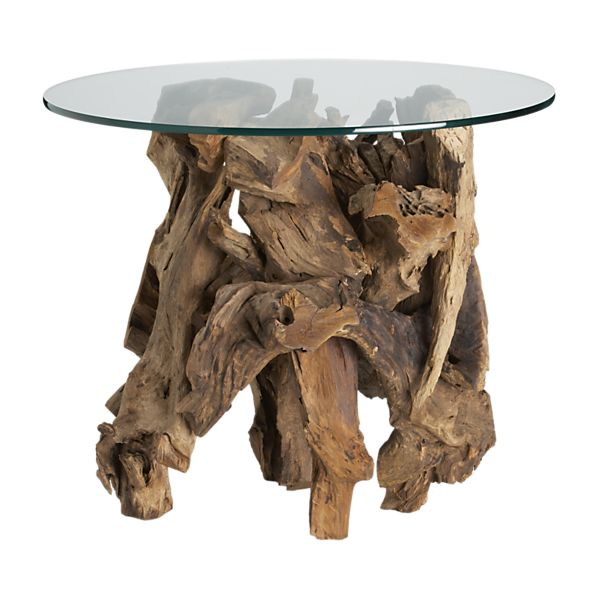Copy Cat Chic Clayton Gray Kingston Driftwood Glass Cocktail Table
