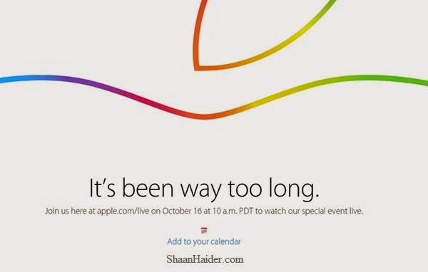 Watch Apple iPad Air 2 Launch Event Live Stream Online