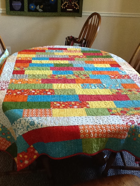 This Is The Quilt Tablecloth On My Dining Room Table. I Recommend Using A  Thin Cotton Batting Like Warm And Natural Because It Is Low Loft And Lays  Flat.