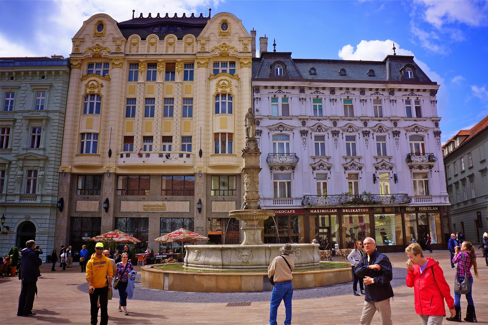Picture of the Roland Fountain in Bratislava, Slovakia.