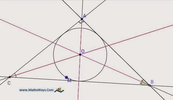 منصفات مثلث - الدائرة المحاطة بمثلث