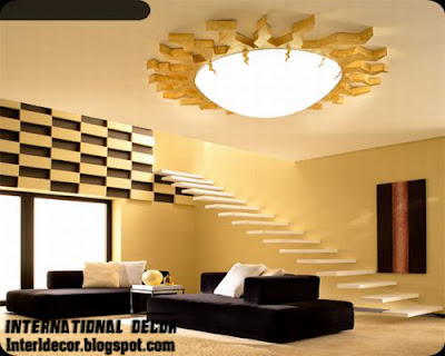 unique ceiling lighting like a sun style for living room ceiling lighting