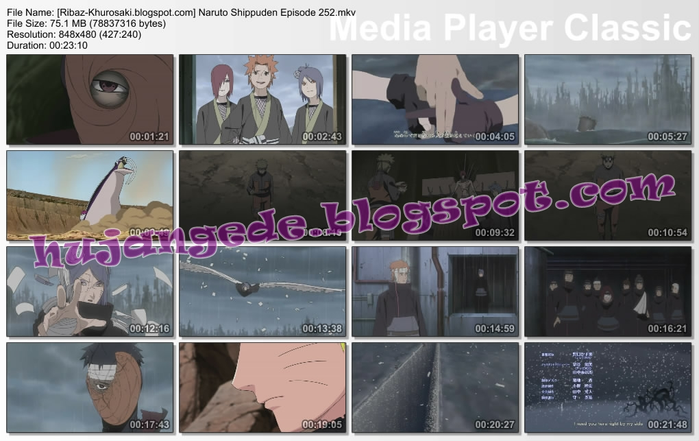 DOWNLOAD FILM ANIME NARUTO SHIPPUDEN EPISODE 252 SUBTITLE BAHASA INDONESIA
