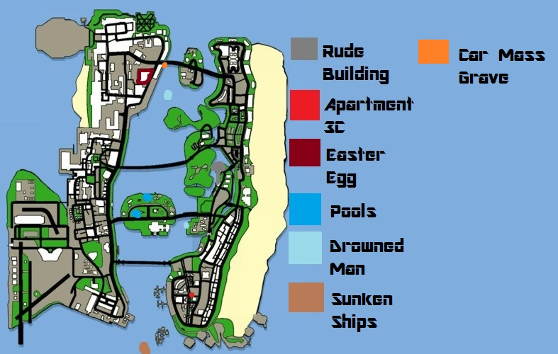 Gta Vice City Map  Bioinformatics RD